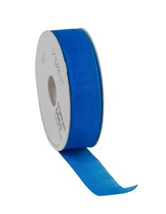 Afbeelding van Rol organzalint 25 mm 50 mtr helblauw