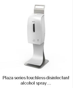 Afbeelding van Tafel dispenser contactloos voor 600 ml desinfectie alcohol spray