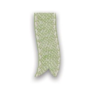 Afbeelding van Rol katoenlint 25 mm 10 mtr groen/wit