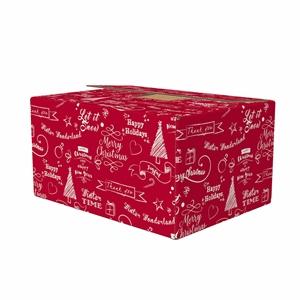 Picture of Kerstdoos F150 Happy Holidays rood 49x29x15 cm